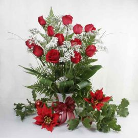 Red Roses Christmas Flowers