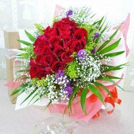 24 Red Roses Handbouquet