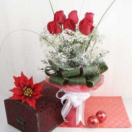 Dreamy Crimson Christmas Flowers