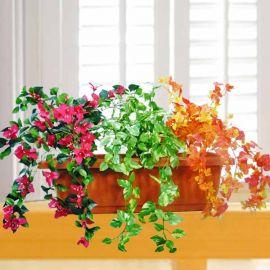 3 Artificial Plants in 2 Feet Planter Box