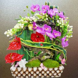 Artificial Phalaenopsis Orchid Table Flowers Arrangement