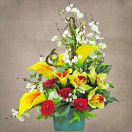 Artificial Calla Lilies Table Arrangement