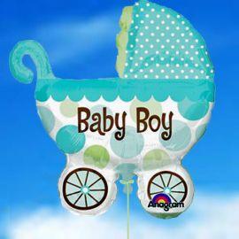 Add On Baby Boy Stroller Balloon