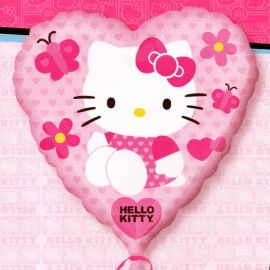 """Add-On 17"""" Hello Kitty Pink Heart Shape Balloon Helium Balloon"""