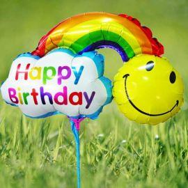 Add-on 33cm x 23cm ( Happy Birthday Day) Rainbow Balloon