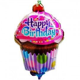 Add On Cupycake Happy Birthday Balloon