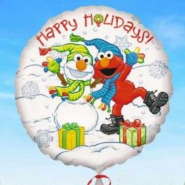 Add On Christmassy Happy Holidays Balloon (Round)