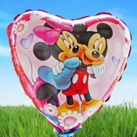 Add On Mickey And Minnie (Heart-Shaped)