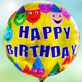 Add On Joyful Happy Birthday (Round)