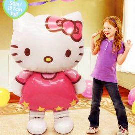 """Add-On Hello Kitty Walks On Air Balloon 50"""" Tall"""