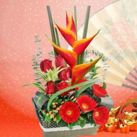 Lucky Rendezvous Lunar New Year Flowers Arrangement