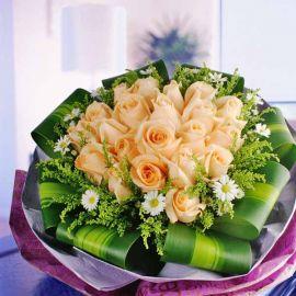 21 champagne roses handbouquet.handbouquet