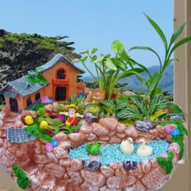 Polyresin Material Miniature Garden