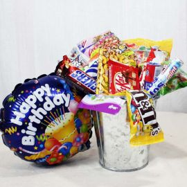 Assorted Sweets / Chocolates with Happy Birthday Balloon
