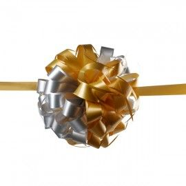 Gold and Silver ribbon ball for opening ceremony