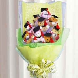 9 Mini Graduation Bear Bouquet
