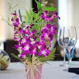 10 stalks Orchids Table arrangement