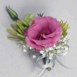 Pink Eustoma Corsage. ( Add-On Only, No Delivery )