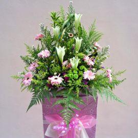 Pink Gerbera & Lily Arrangement