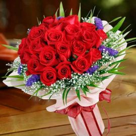 21 Red Roses Hand Bouquet