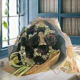 Yam Black Roses HandBouquet