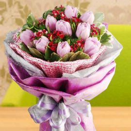 Pink Tulips Hand Bouquet