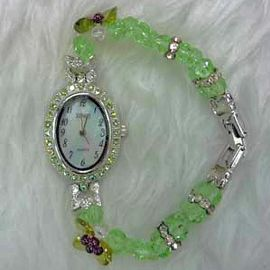 Green Crystal Watch