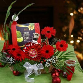 Christmas Gerbera Treasure Basket Arrangement